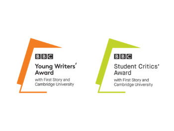 BBC Young Writers' Award and Student Critics' Award logos