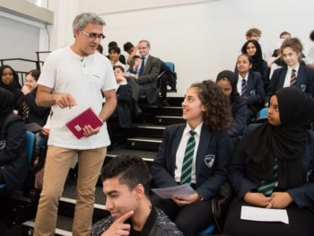 Daljit Nagra at a First Story RSL Outreach event