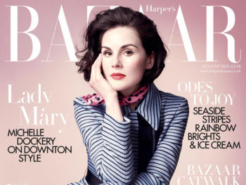 Michelle Dockery on front cover of Harper's Bazaar