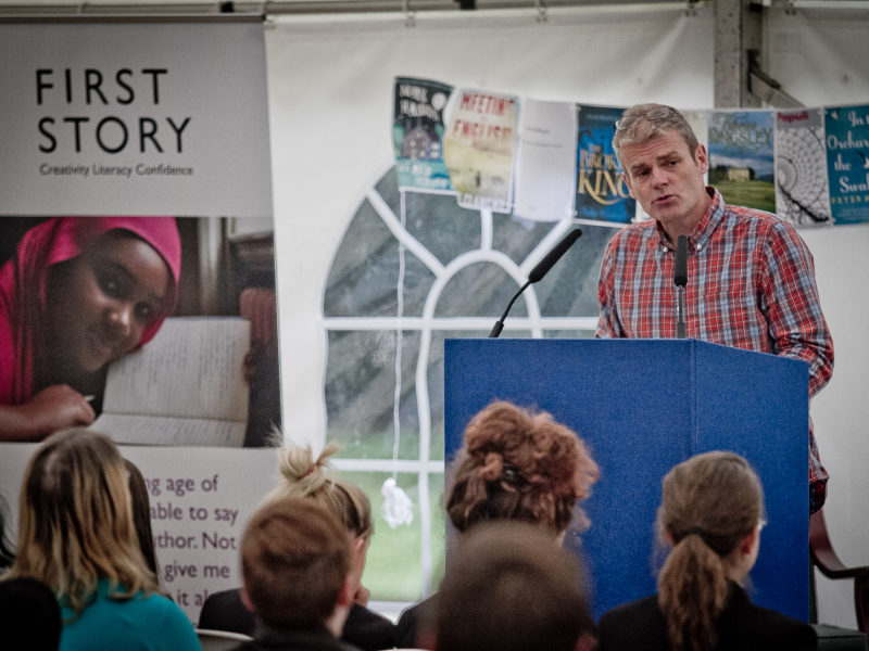 Mark Haddon at the First Story Young Writers' Festival 2014